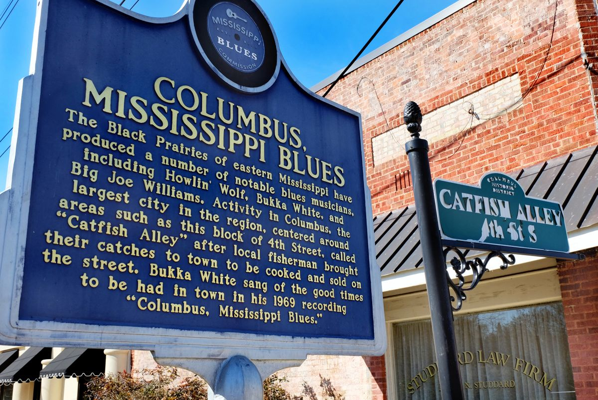 Marker des Mississippi Blues Trail in Columbus